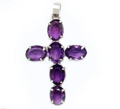 Cut GemStone Cross Pendants