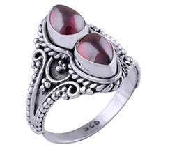 Cabochon Stone Silver Rings
