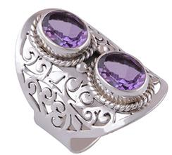 Cut Stone Silver Rings