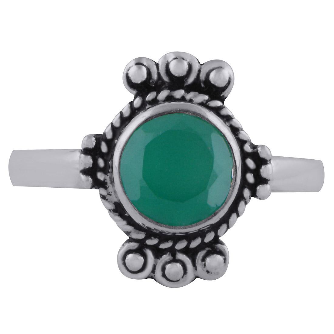 925 Solid Sterling Silver Green Onyx Gemstone Bracelet Octogan Shape Cut Stone